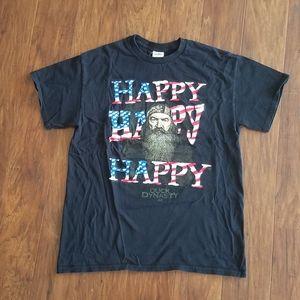 Duck Dynasty Happy T-shirt Black {Medium}